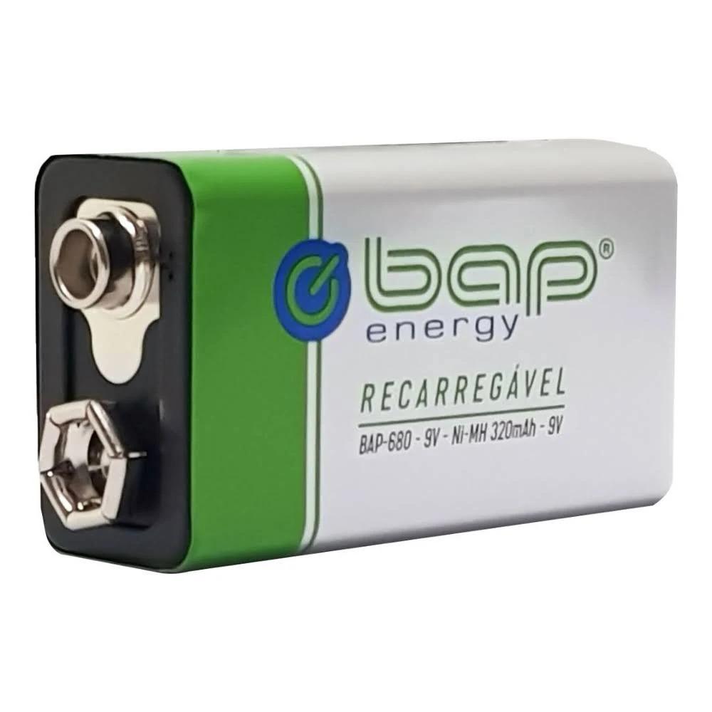 Bateria Recarregavel 9v 320mah Bap680  - EMPORIO K