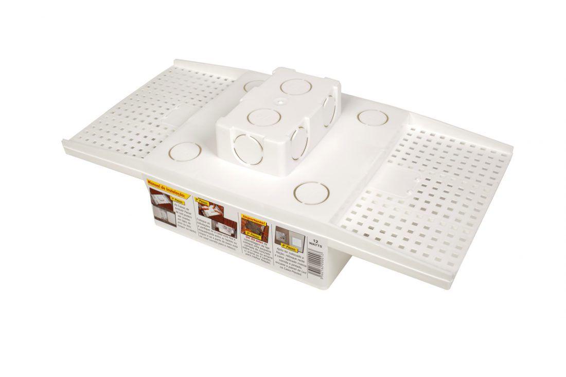 Caixa Embutir Plafon Painel de Led 12w na Laje Plasled  - EMPORIO K