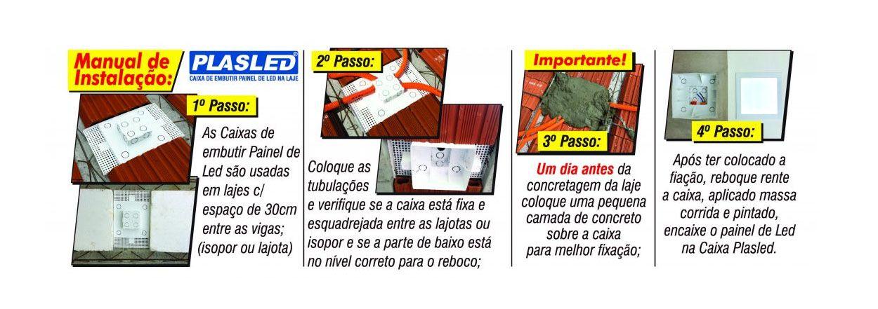 Caixa Embutir Plafon Painel de Led 18w na Laje Plasled  - EMPORIO K