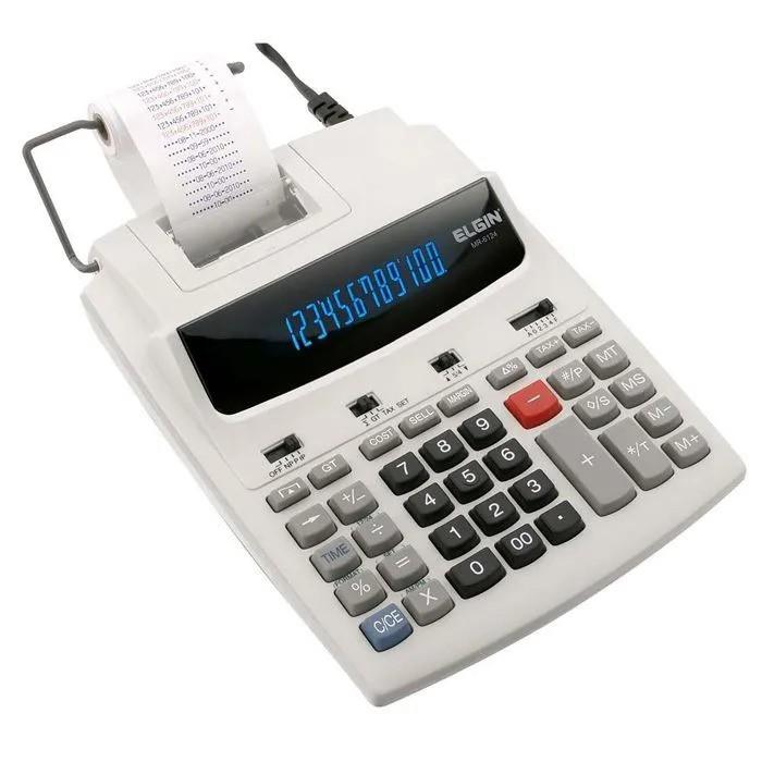 Calculadora Leve Bicolor 12 digitos MR6124 Elgin  - EMPORIO K
