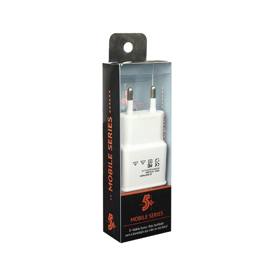 Carregador USB Mobile 5V 2.1A Branco 5+ CHIP SCE 044-0001  - EMPORIO K