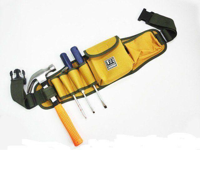 Cinto Cinturão para Ferramentas 2 Bolsos e 8 Divisões Lee Tools 608350  - EMPORIO K