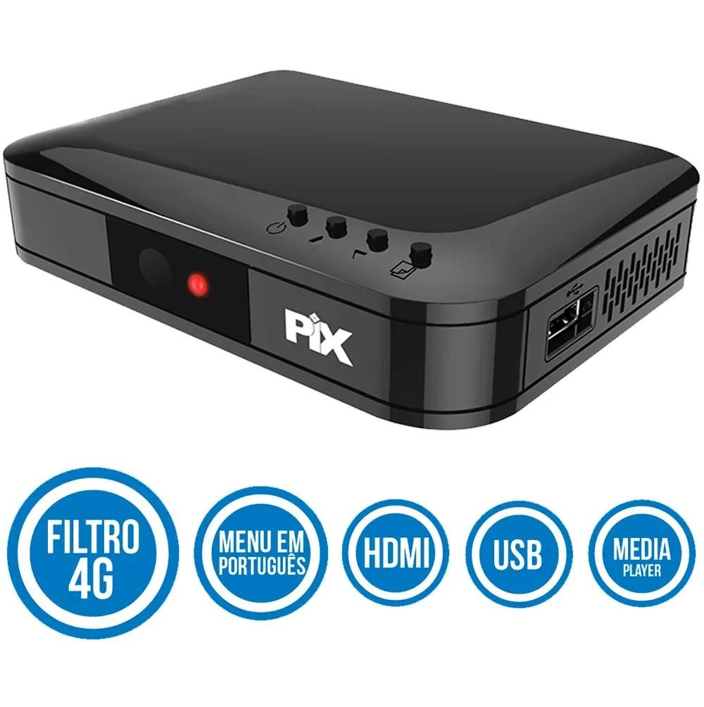 Conversor Digital Terrestre Pix Filtro 4g Full Hd Gravador  - EMPORIO K