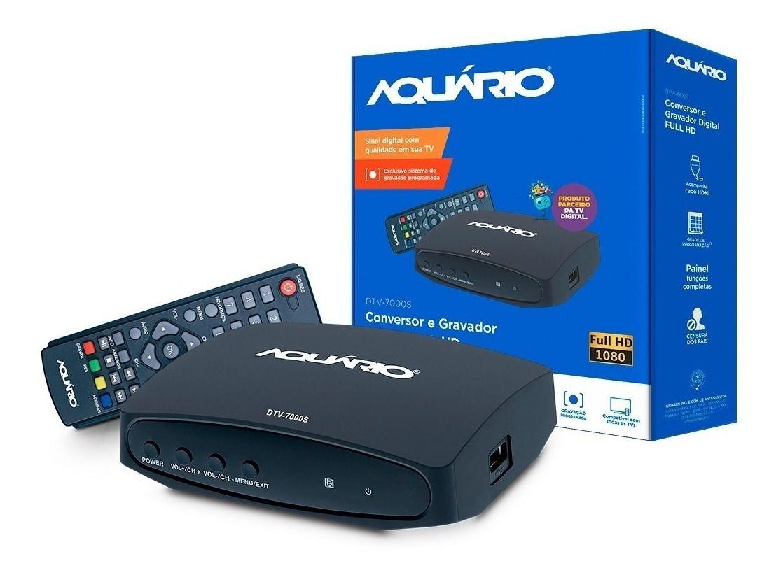 Conversor e Gravador Digital Aquário Full hd DTV-7000S  - EMPORIO K