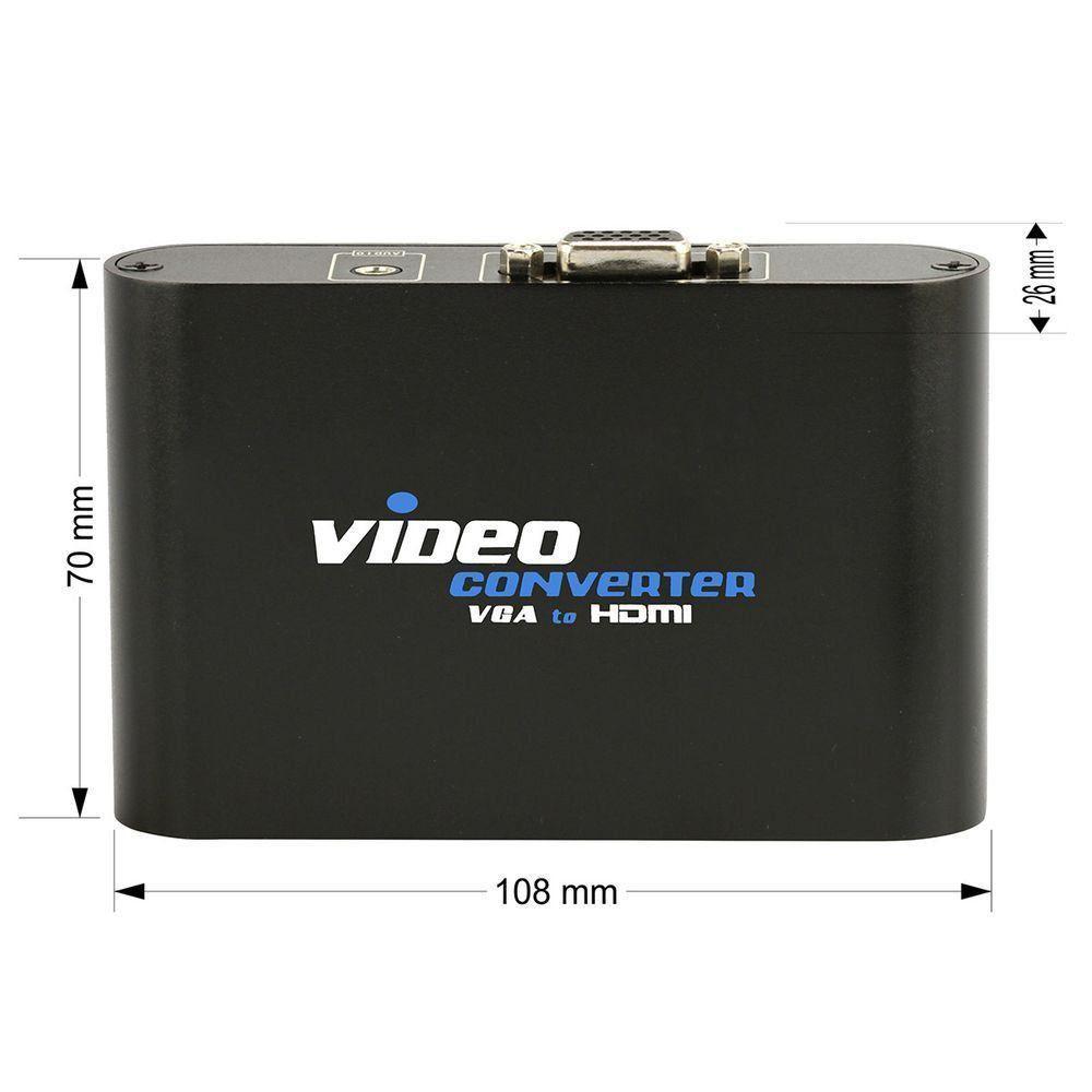 Conversor VGA para HDMI com Áudio P2, Video Converter  - EMPORIO K