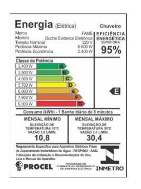 Chuveiro Fame Evidence Eletronico  - EMPORIO K