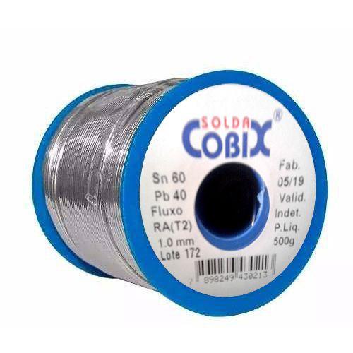 Estanho Solda Fluxo Cobix 500g Azul 60x40 1.0mm  - EMPORIO K