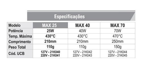 Ferro De Soldar Hikari Max 40w 430°  - EMPORIO K