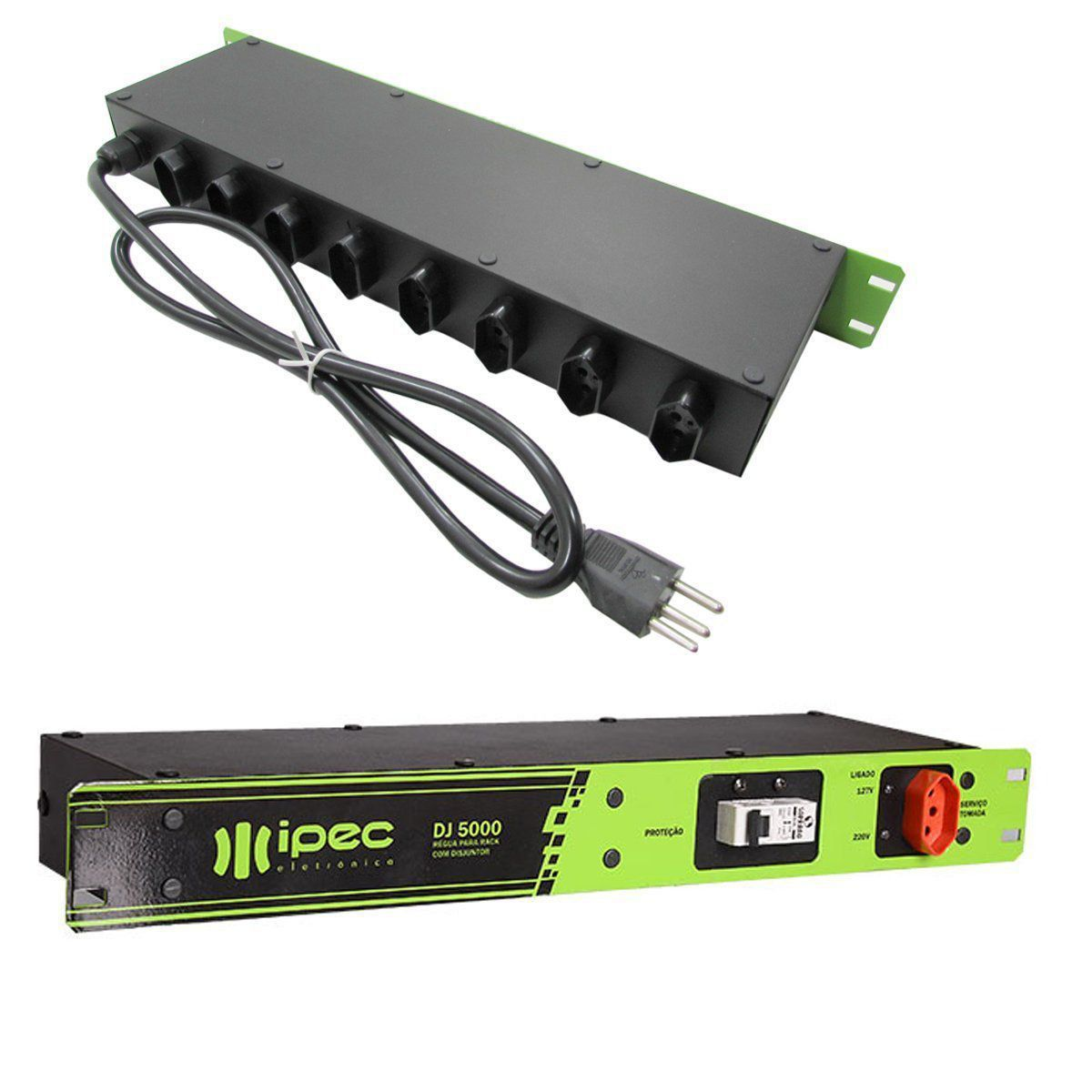 Filtro De Linha Régua Rack Com Disjuntor 20a Ipec Mod DJ 5000  - EMPORIO K
