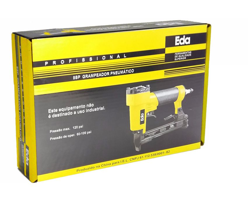 "Grampeador Pneumático 5/8"" 140 Grampos 6 A 16mm Bitola 12,8mm 9sp  - EMPORIO K"