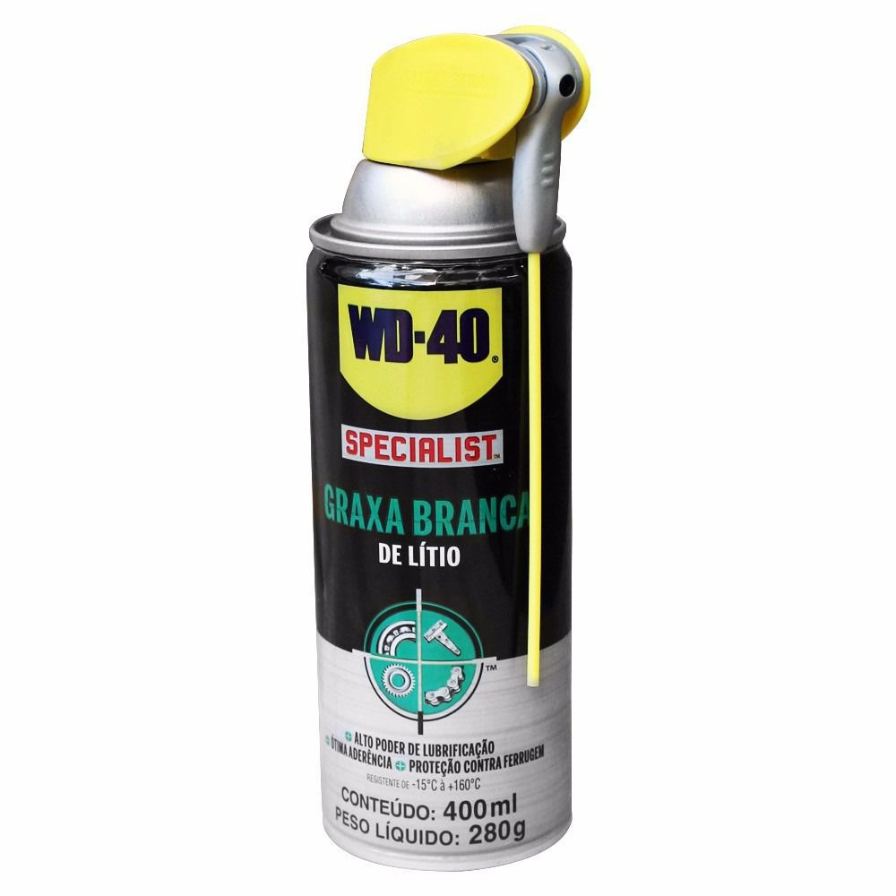 Graxa Branca de Lítio Spray Aerosol 400 ml WD-40  - EMPORIO K