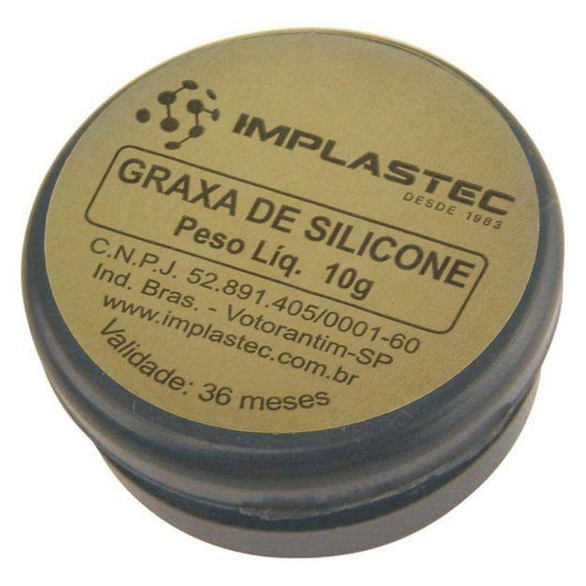 Graxa de Silicone Implastec 10g - IGS 200  - EMPORIO K