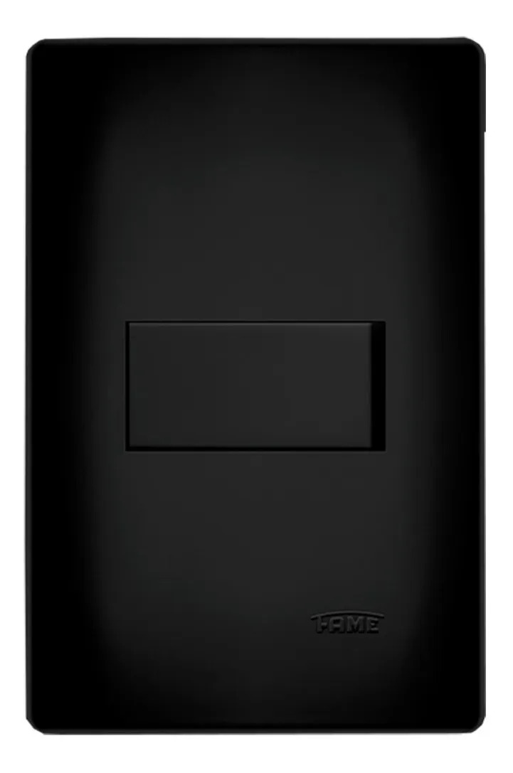 Interruptor Paralelo 4x2 Preto Fosco Fame  - EMPORIO K