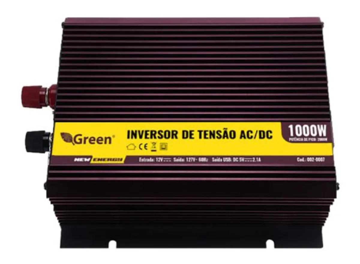 Inversor de Tensão 12v 1000w -127v 002-0007  - EMPORIO K