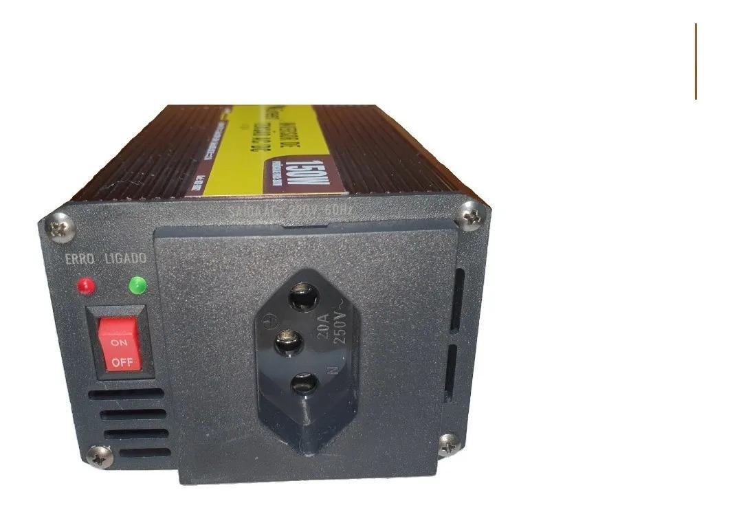 Inversor De Tensão 12v Para 127v 150w -220v Green  - EMPORIO K