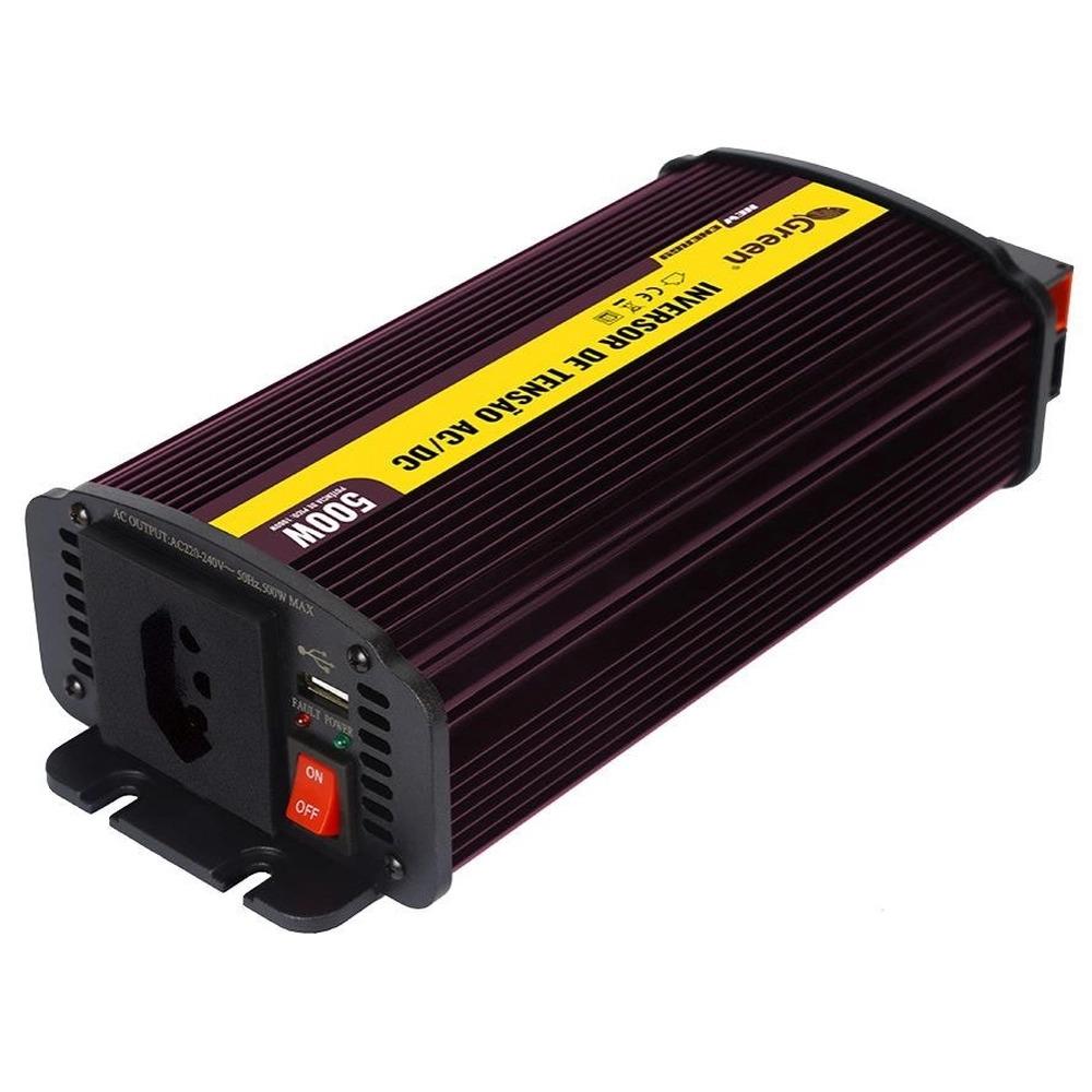Inversor De Tensão 12v X 127v 500w Usb Cooler 20a Tripolar  - EMPORIO K