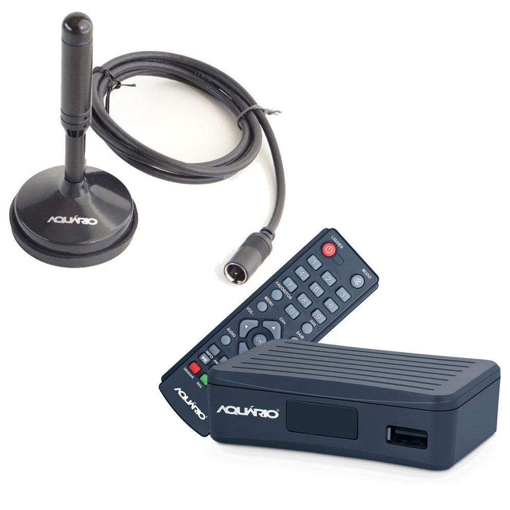 Kit Conversor Digital Aquário HDMi Antena Interna DTV 4000s  - EMPORIO K