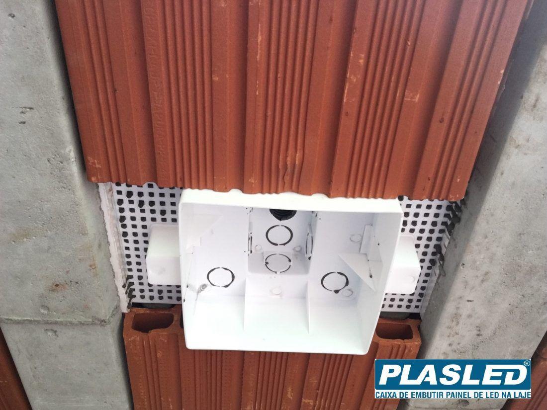 Kit Plafon  24w + Caixa passagem Embutir na Laje Plasled  - EMPORIO K