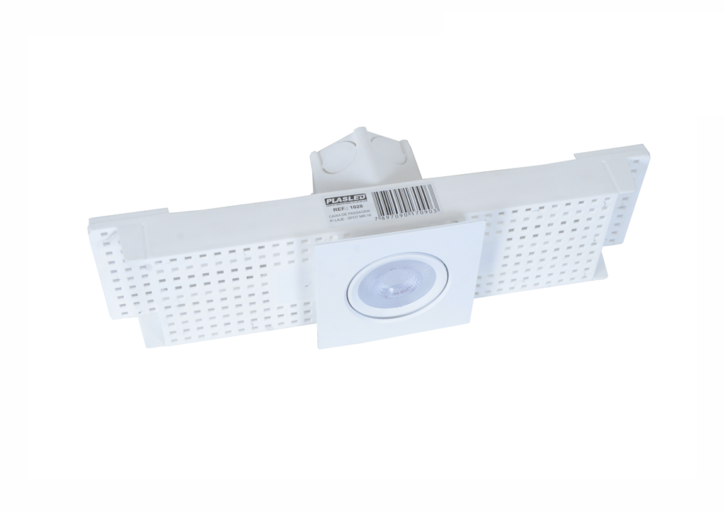 Kit Spot 5w + Caixa Passagem Embutir Na Laje Plasled  - EMPORIO K