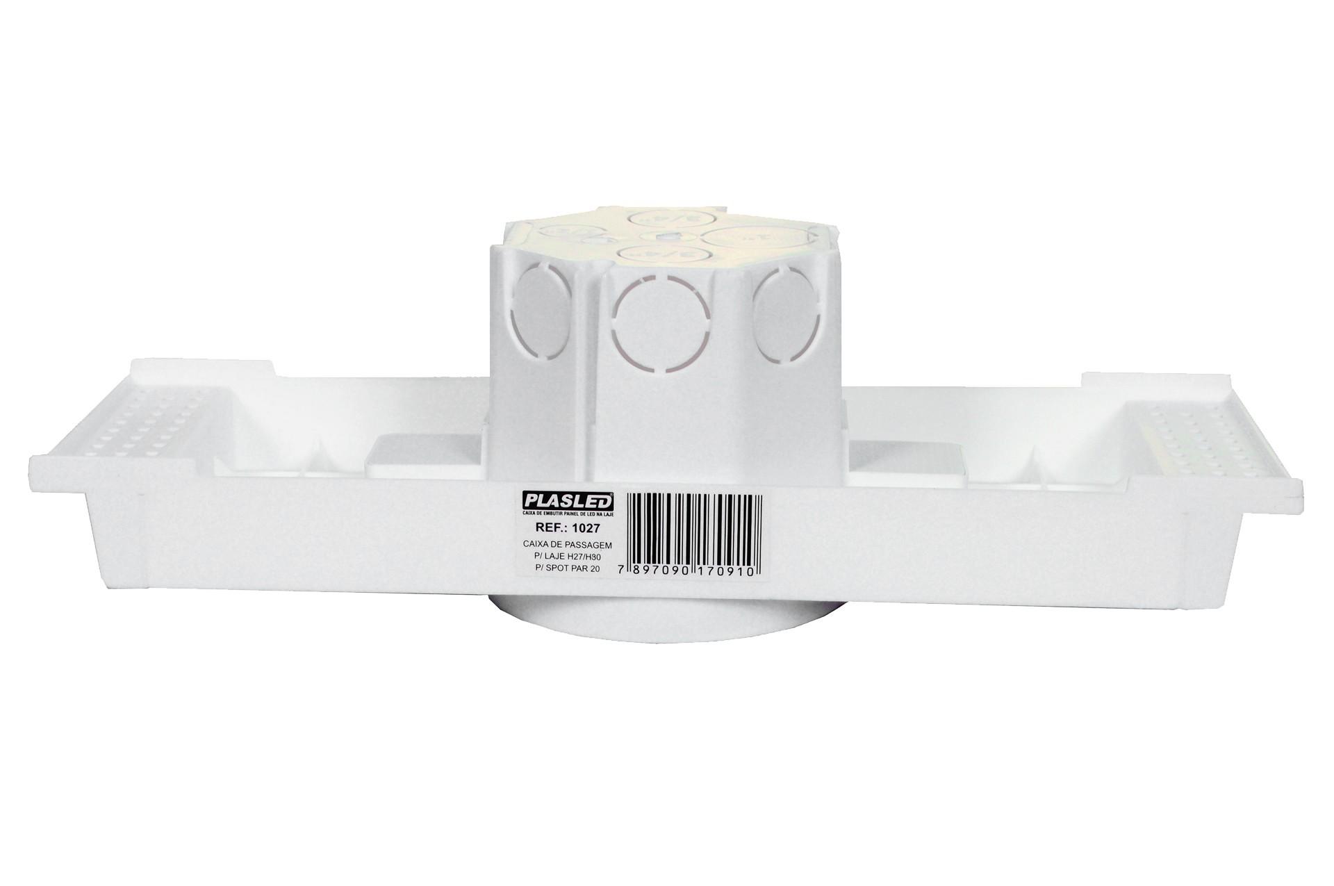 Kit Spot 7w + Caixa Passagem Embutir Na Laje Plasled  - EMPORIO K