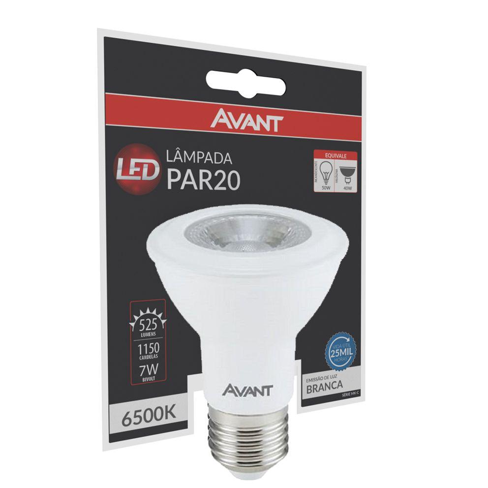 Lampada Cob Led Par 20 branco frio 6500k 7w Avant  - EMPORIO K