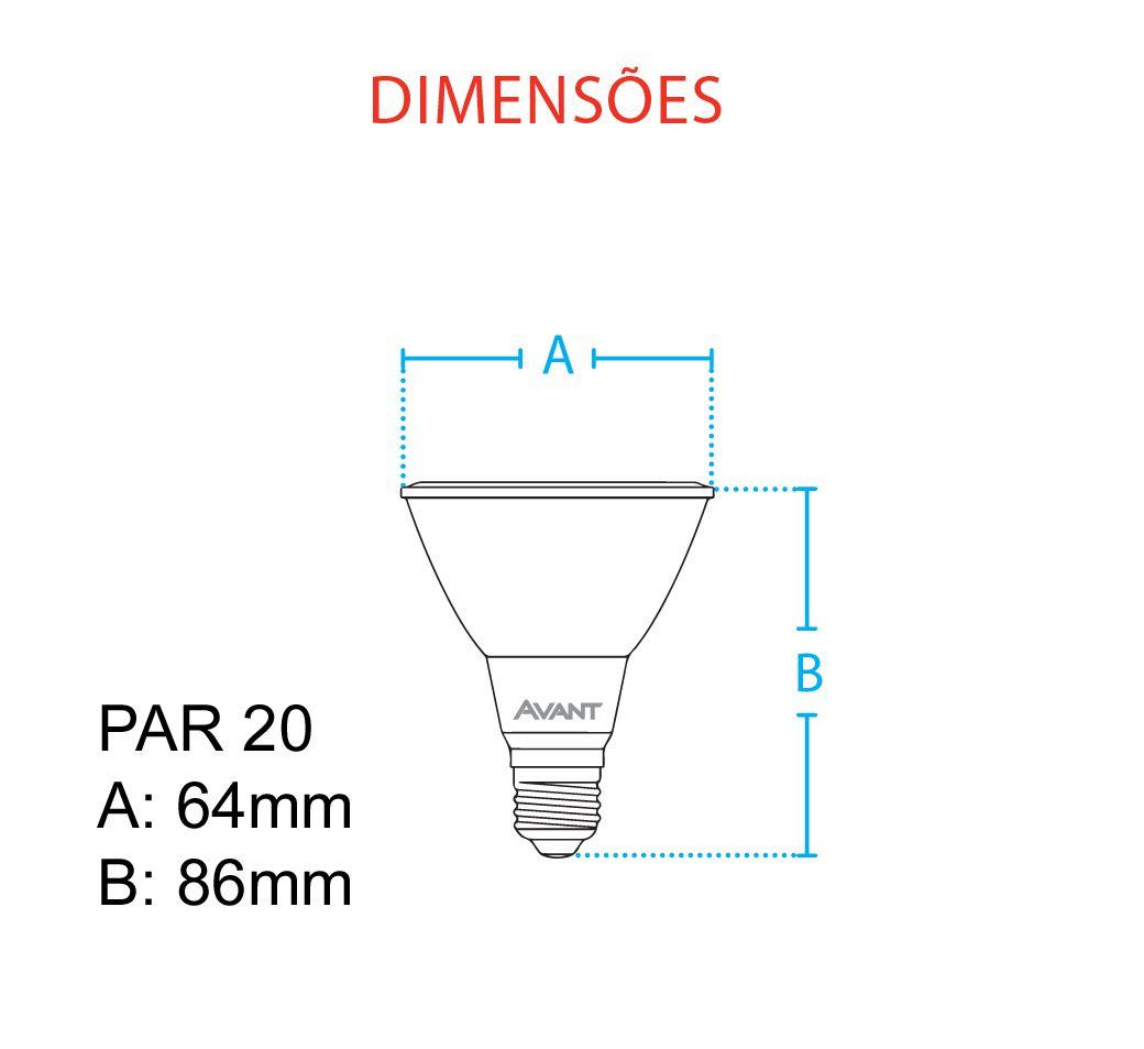 Lampada Led Par 20 7w Cob Branco Neutro 4000k Avant   - EMPORIO K