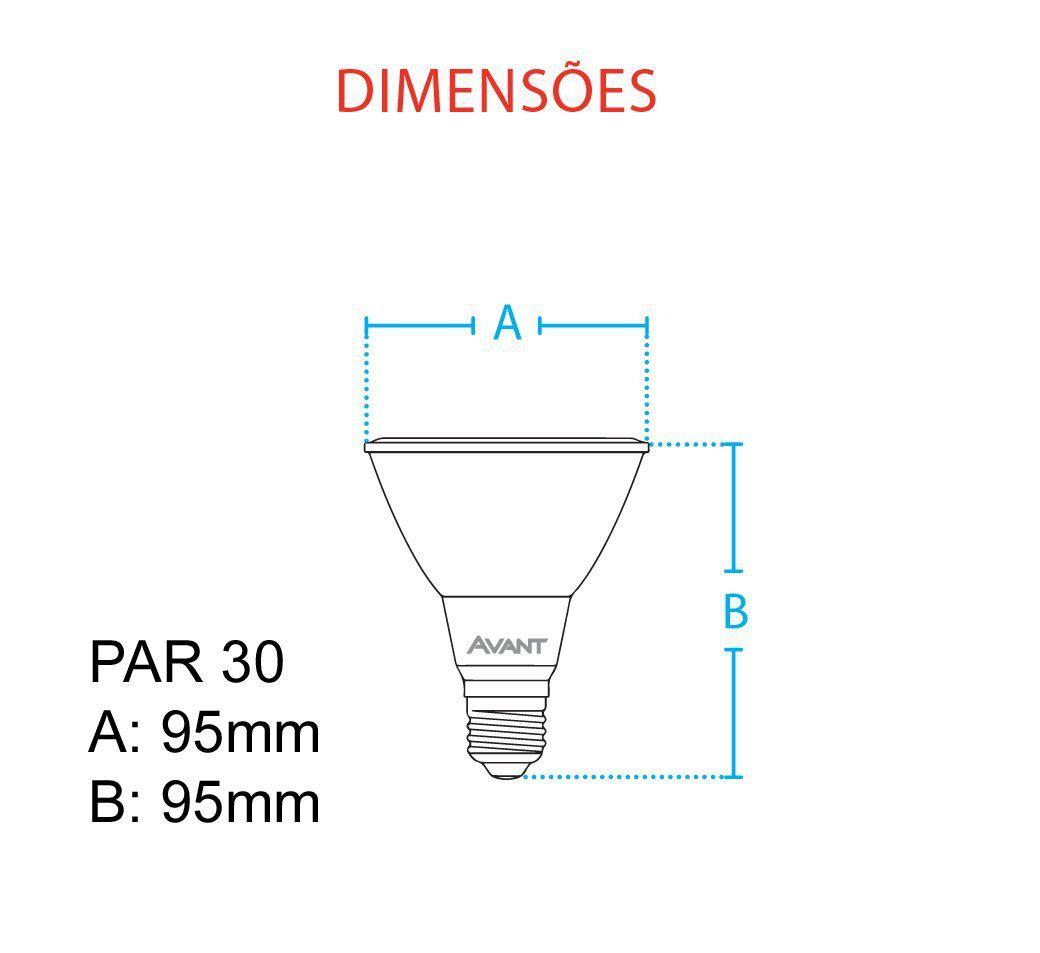 Lampada Cob Led Par 30 branco neutro 4000k 11w Avant  - EMPORIO K