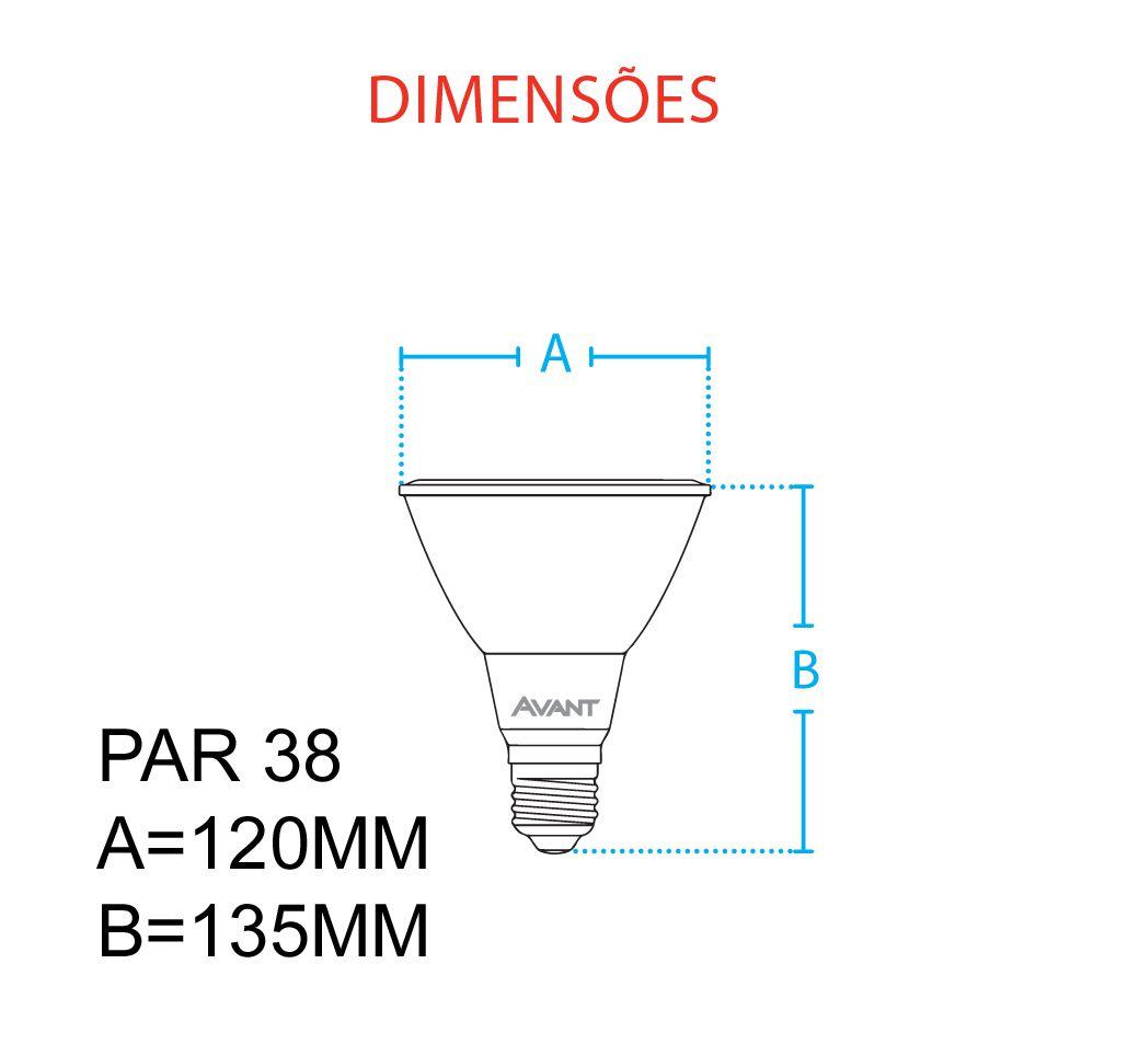 Lampada Cob Led Par 38 branco neutro 4000k 14w Avant  - EMPORIO K