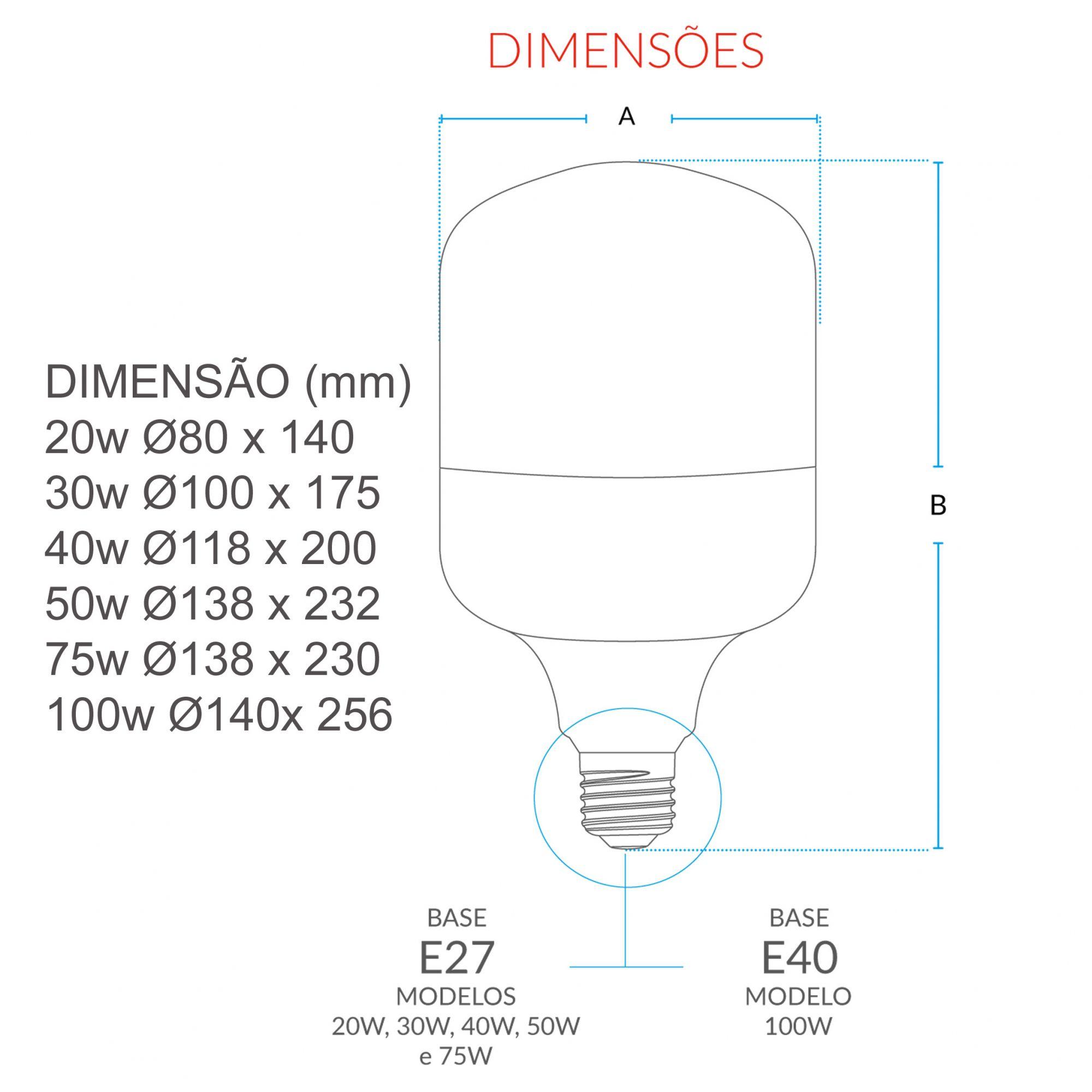 Lâmpada Led Bulbo 75w Luz Branca 6500k Avant Alta Potência  - EMPORIO K