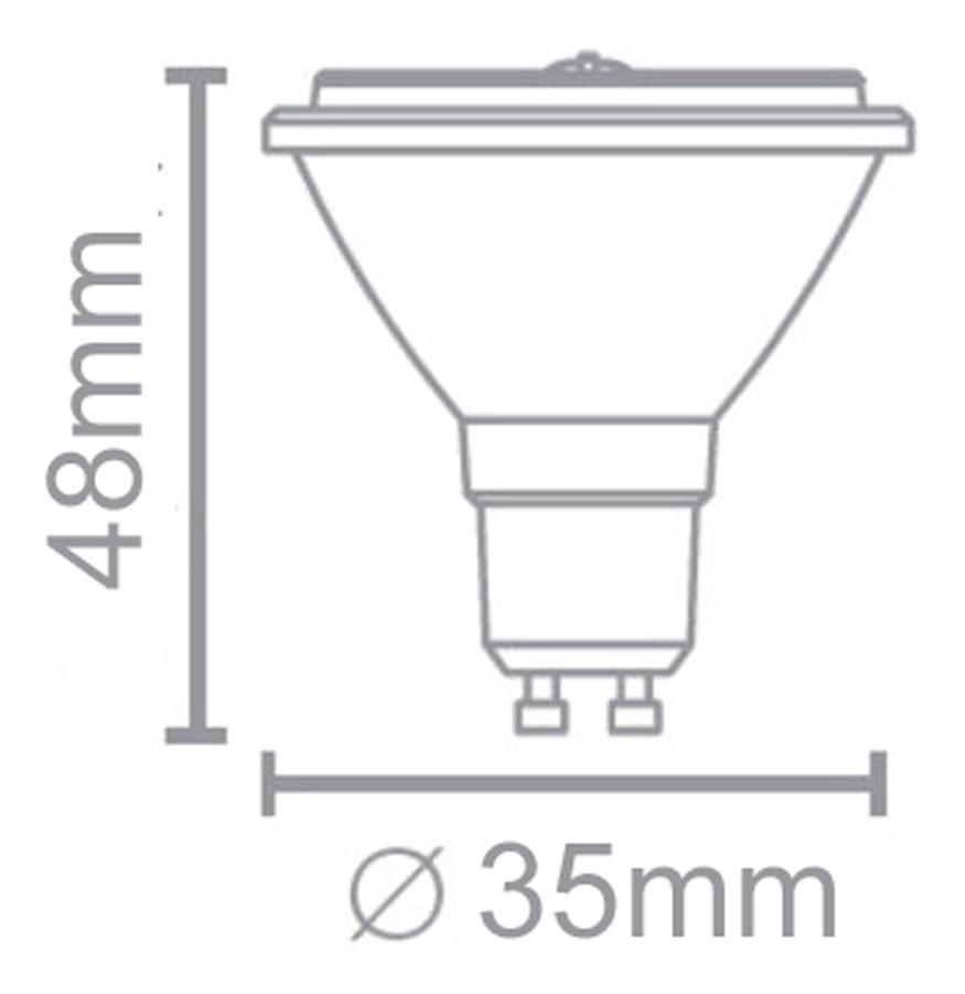 Lampada Led Mini Dicroica Mr11 Gu10 3,5w Black Decker  - EMPORIO K