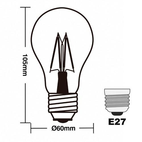 Lampada Retro A60 Filamento Led 4w Bivolt Âmbar 2200k Avant  - EMPORIO K
