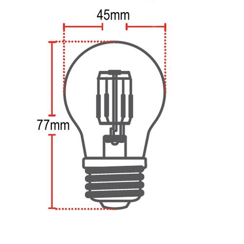 Lampada retro bolinha G45 E27 bivolt ambar 2200K 2w Avant  - EMPORIO K