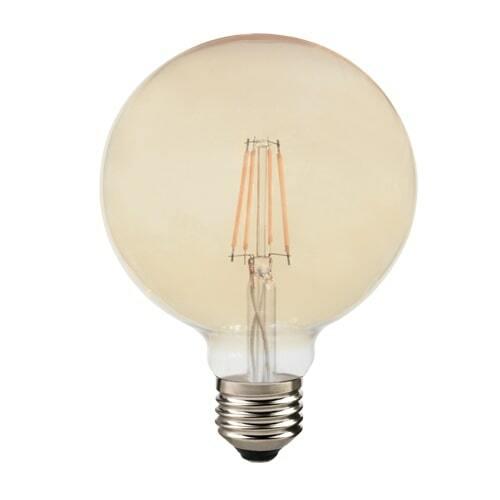 Lampada retro globo G125 E27 bivolt ambar 2200k 4w Avant  - EMPORIO K