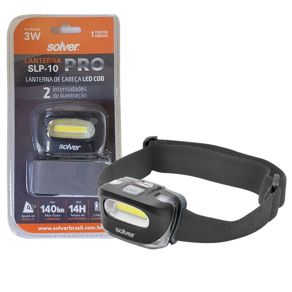 Lanterna de Cabeça LED Solver SLP-10  - EMPORIO K