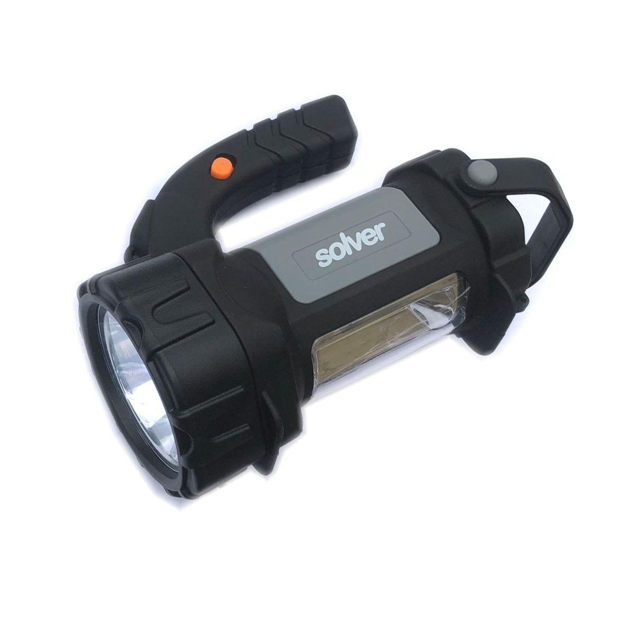 Lanterna Holofote Pro Recarregável LED Cree Solver SLP-401  - EMPORIO K