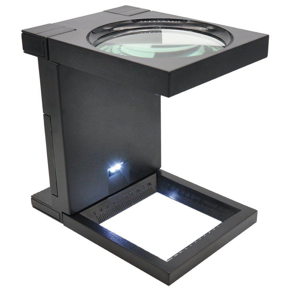 Lupa Conta Fios Aumento 2,5D Portátil e Dobrável Solver SLF-190 LED  - EMPORIO K