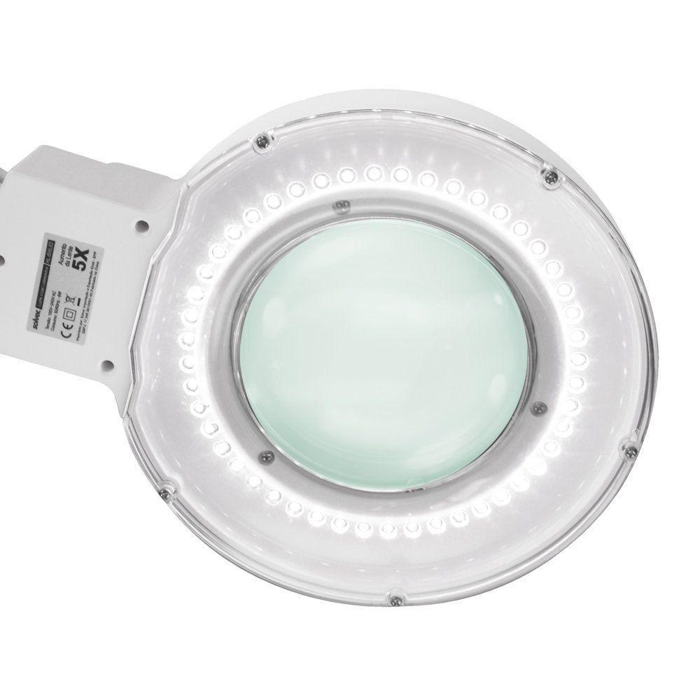 Lupa De Bancada Com Iluminação Led 8x Solver  HL-500  - EMPORIO K