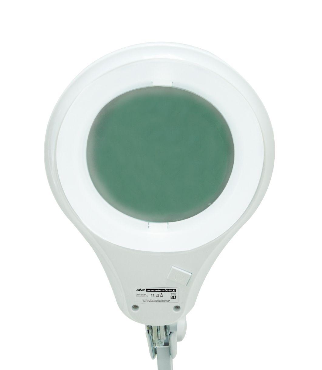 Lupa de Bancada Mesa 8x 60 leds 14w  4 Niveis Luz  Hl-410 Solver  - EMPORIO K