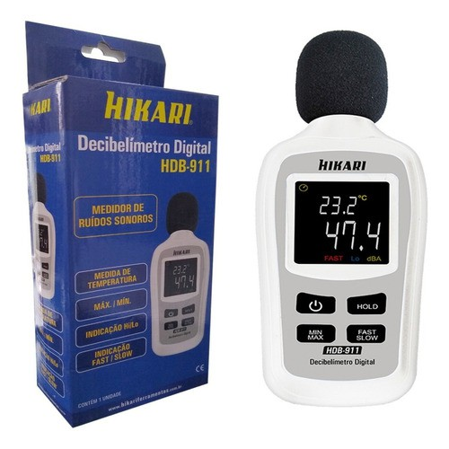 Mini Decibelímetro Digital Profissional Hdb-911 Hikari  - EMPORIO K