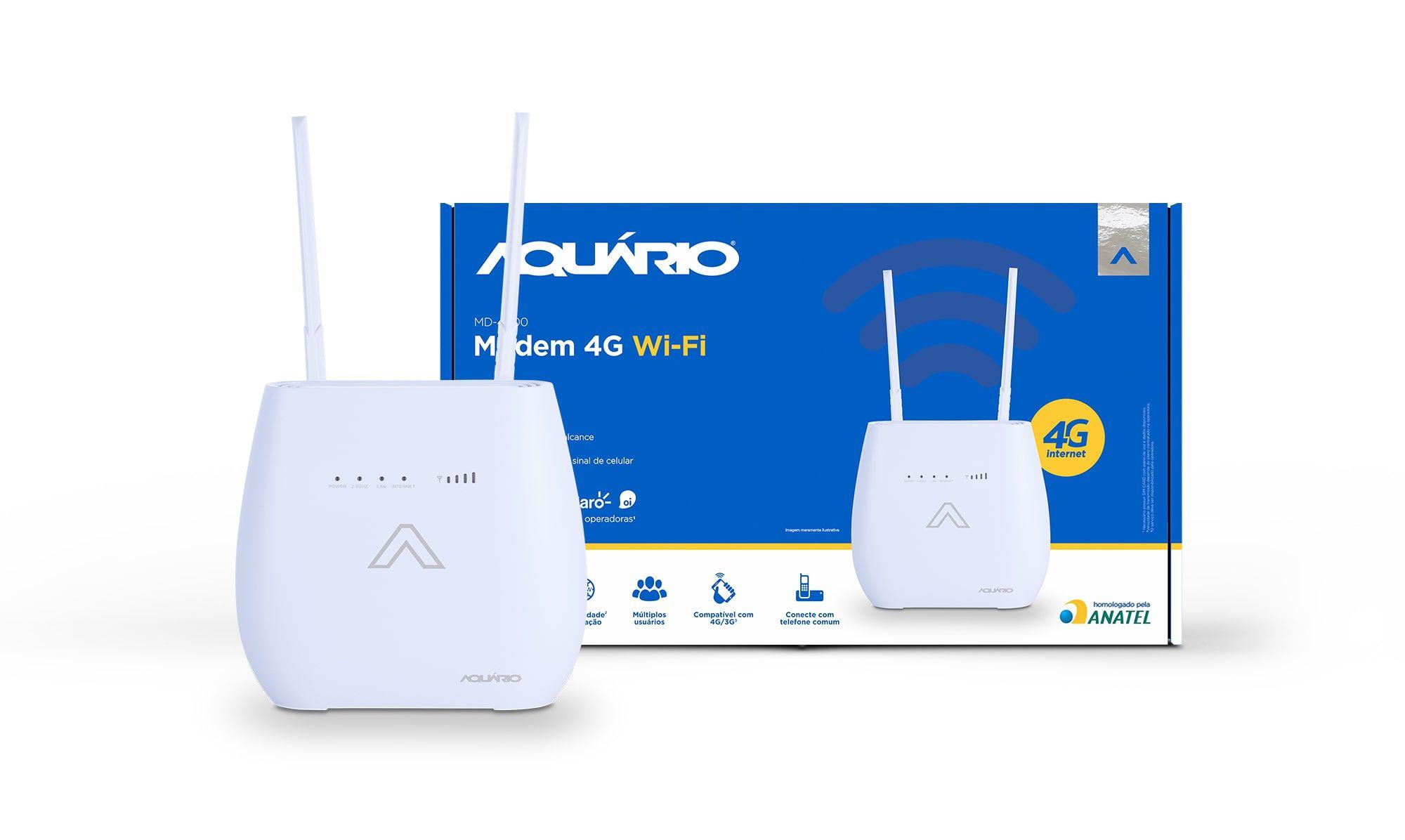 Modem Roteador Desbloqueado 3g 4g Wifi MD4000 Aquário  - EMPORIO K