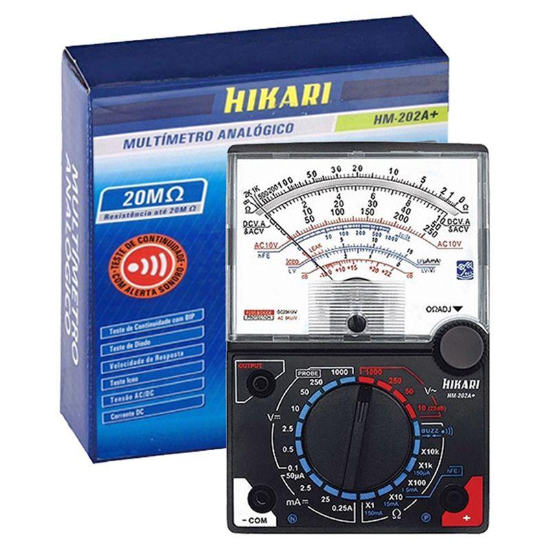 Multímetro Analógico Hikari Hm-202a+ 20k Ohms/volt Corrente  - EMPORIO K
