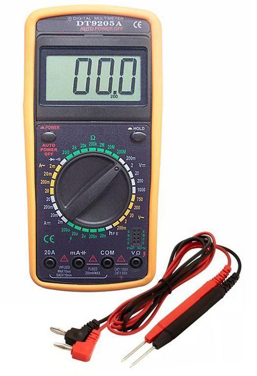 Multímetro Digital com Capacímetro e Beep DT 9205A  EDA 9KF  - EMPORIO K
