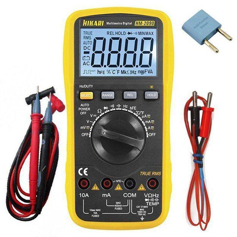 Multímetro Digital Hikari Hm-2090  True Rms Temperatura  - EMPORIO K