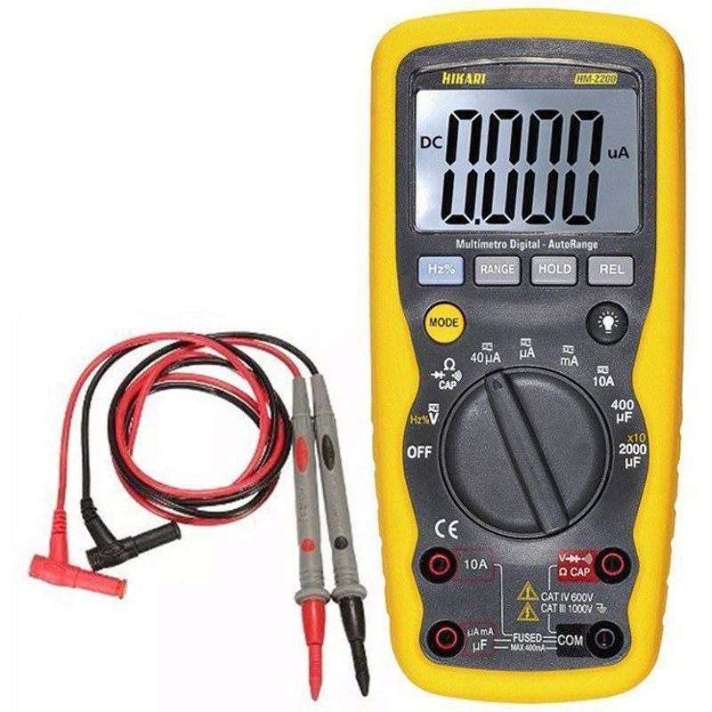 Multimetro Digital Hikari HM-2200 Prova de agua Completo  - EMPORIO K