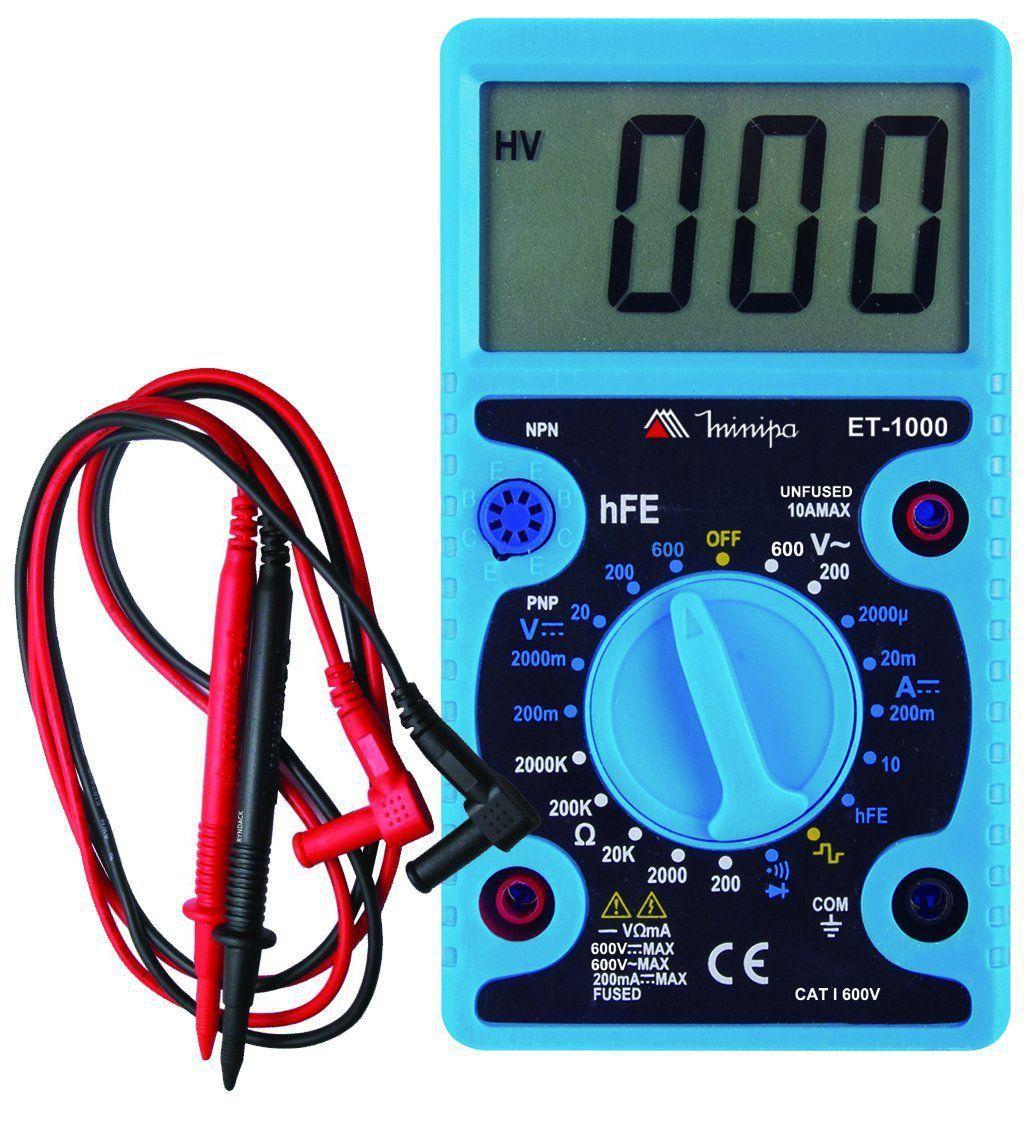 Multímetro Digital Profissional Minipa ET-1000  - EMPORIO K