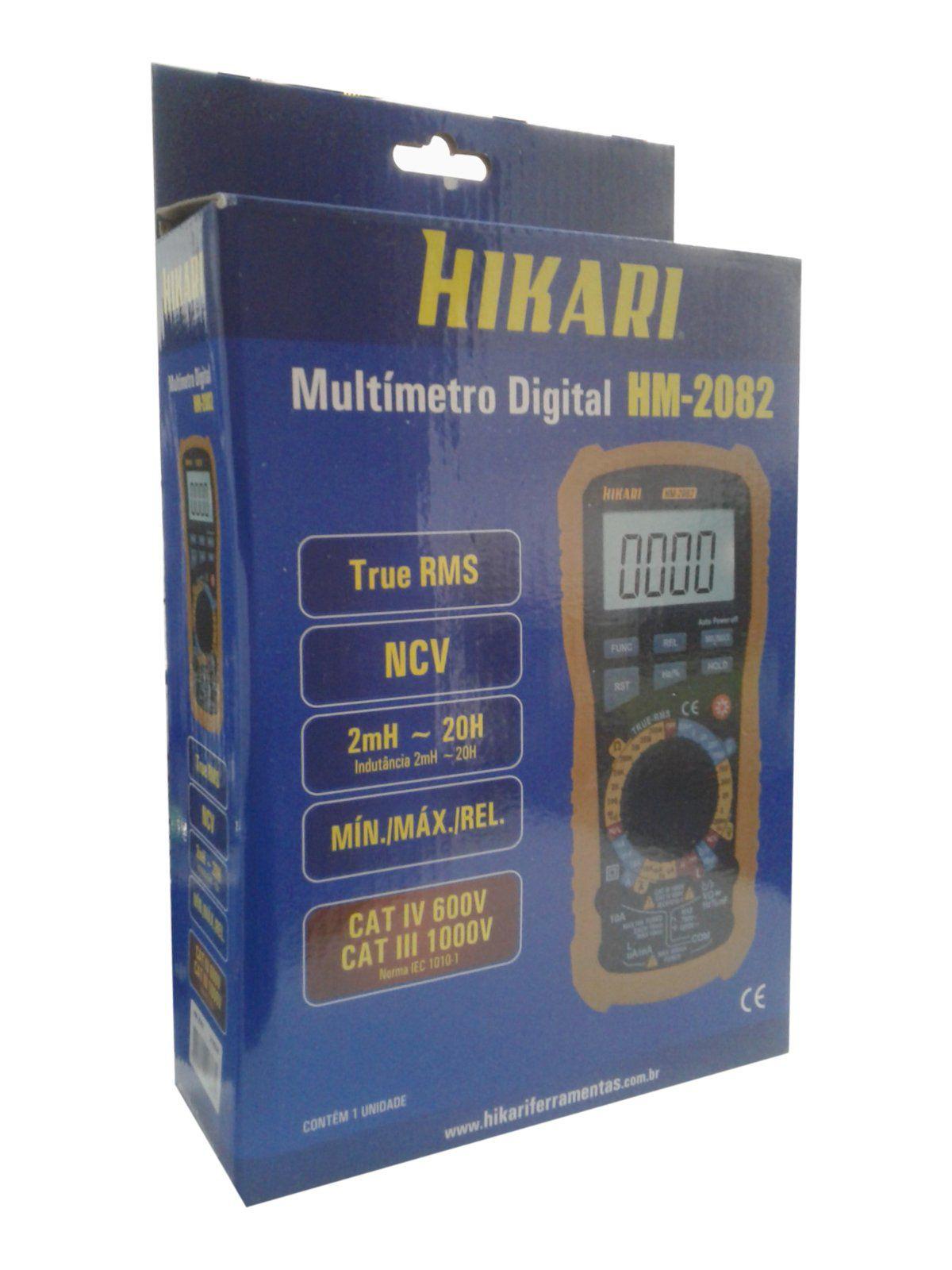 Multímetro Digital True RMS HM-2082 - Hikari  - EMPORIO K