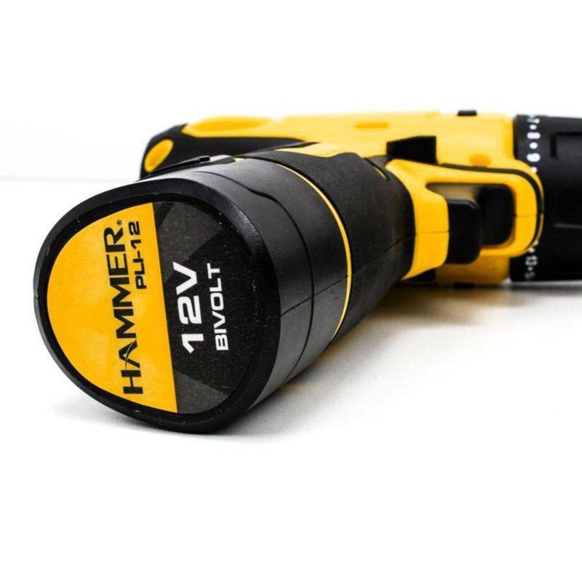 Parafusadeira Furadeira 12v Bateria Lítio Bivolt PLI12 Hammer  - EMPORIO K