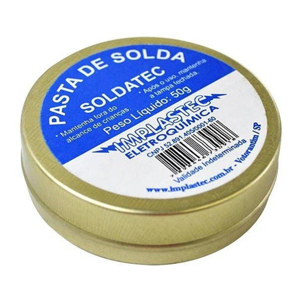 Pasta de Solda Soldatec Implastec 50gr Fluxo  - EMPORIO K