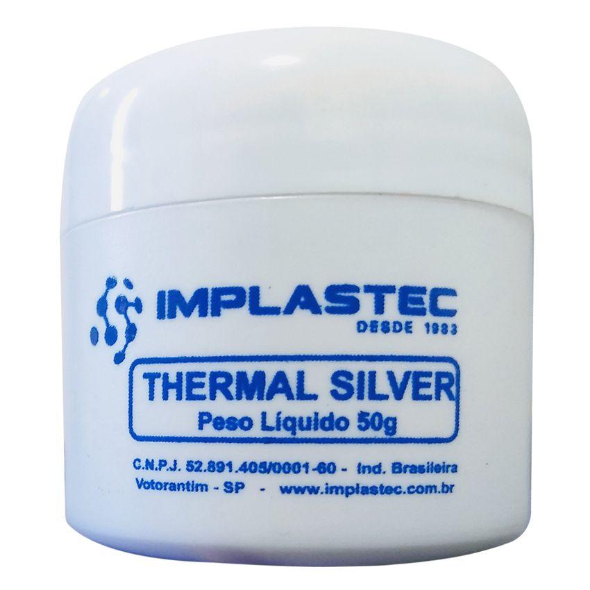 Pasta Termica 50g Thermal Silver Prata IMPLASTEC  - EMPORIO K