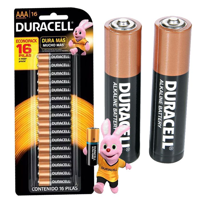 Pilha Duracell Alcalina Pequena AAA com 16 Unidades  - EMPORIO K